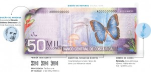 50000 bank note costa rica