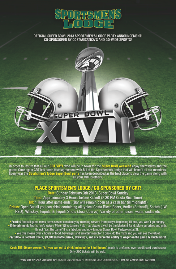 Sportsmens Lodge Superbowl