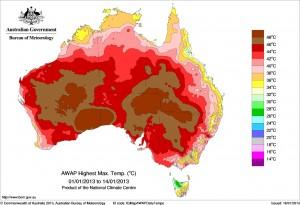 hottest day australia 1