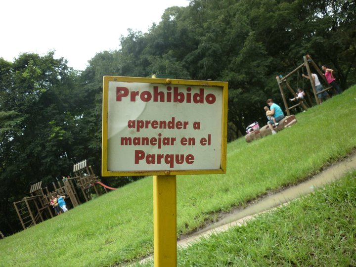 No Learning to Drive in the Parque - Hmmmmm