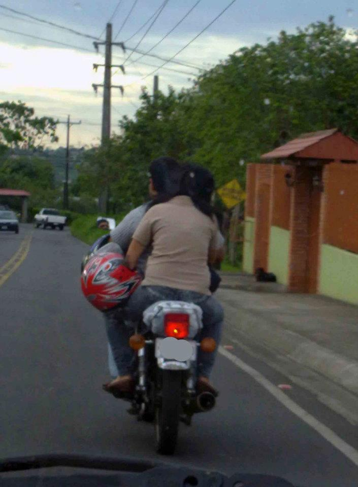 This Is Driving With a Helmet in Costa Rica