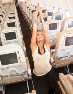 airplane yoga 1