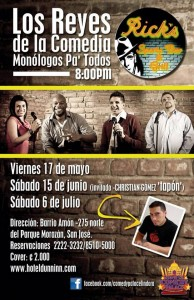 comedy kings costa rica