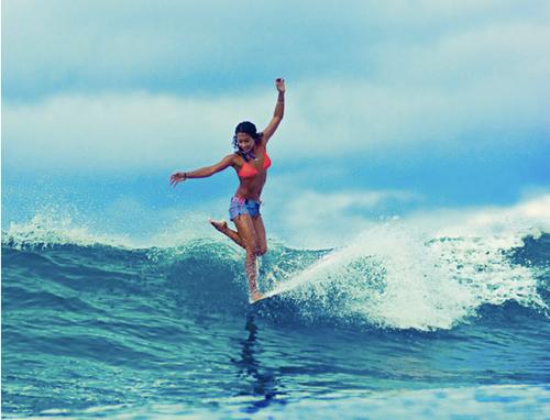Surfing On Big Island June