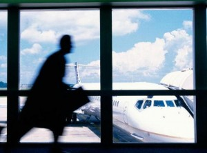 running in airport