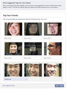 face recognition on facebook