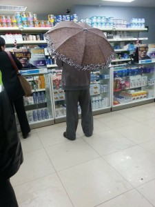 Just in Case of Rain in the Pharmacy