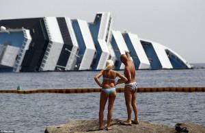 costa cocordia shipwreck video