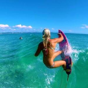hot surfer girl in bikini
