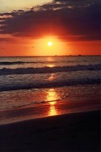 costa rica sunset beach