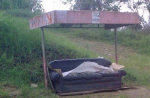 Costa Rica Comfortable Bus Stop