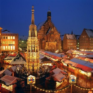 Weihnachtsmarkt in Nürnberg, Mittelfranken, Bayern, Deutschland