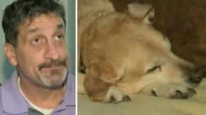 blind man dog kicked off  flight