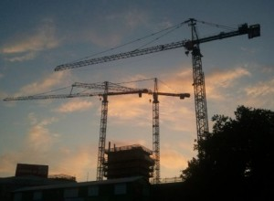construction and crane