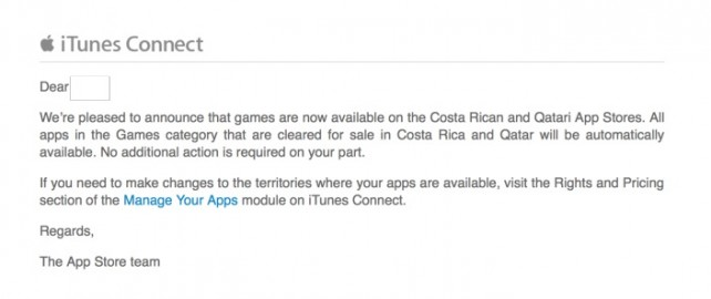 itunes costa rica games