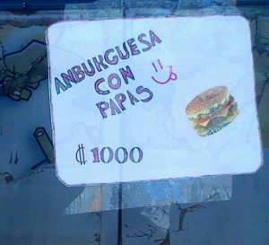Anburguesa......Can I have that with Ceese