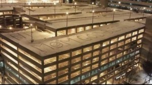 message in snow for cancer patient