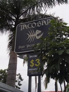 taco bar $3 breakfast