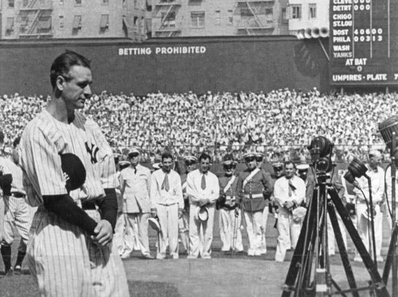 """Lou Gehrig  """"Luckiest Man"""" Speech 1"""