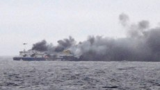 ferry greece fire