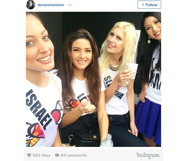 Miss Lebanon selfie miss israel 1