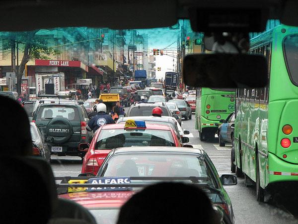 costa rica traffic san jose