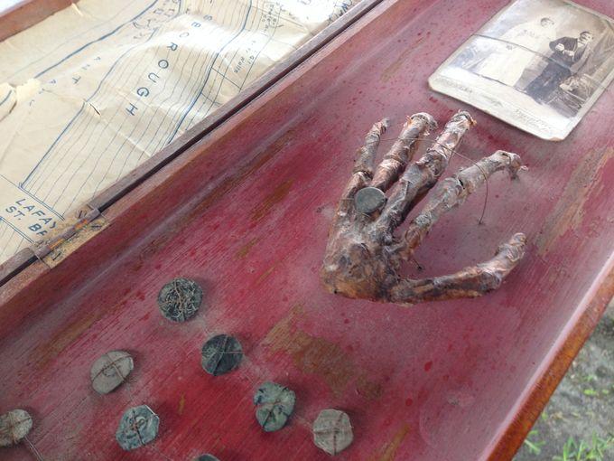 hand treasure map florida attic