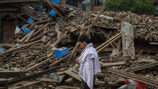 nepal earthquake video