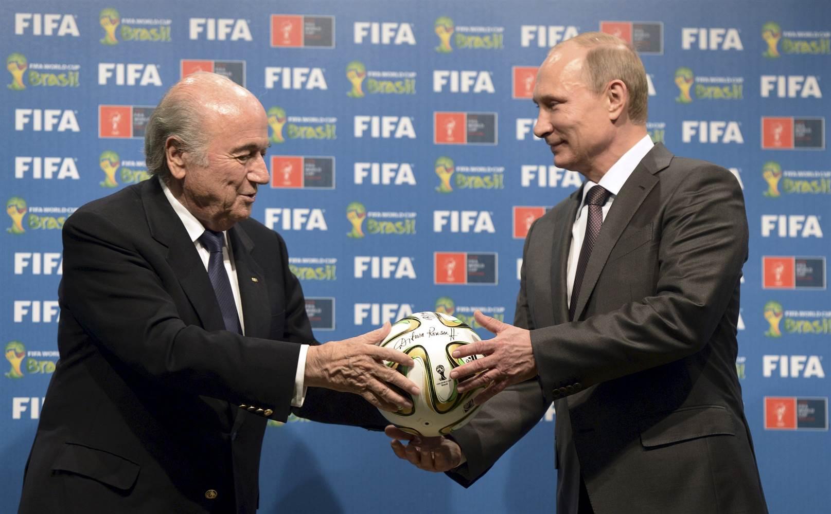 blatter putin FIFA world cup scandal