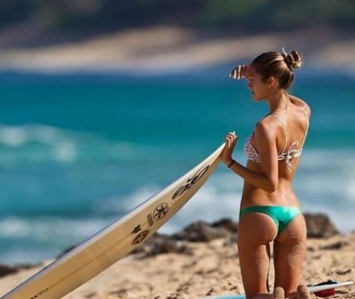 beautiful surf girl