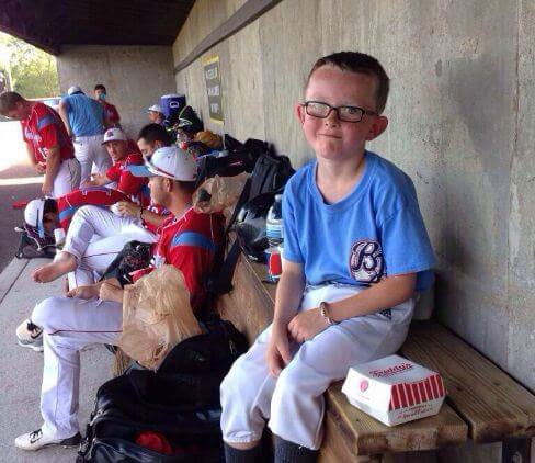 9-year-old Kaiser Carlile is in critical condition after a batter accidentally hit him in the head.