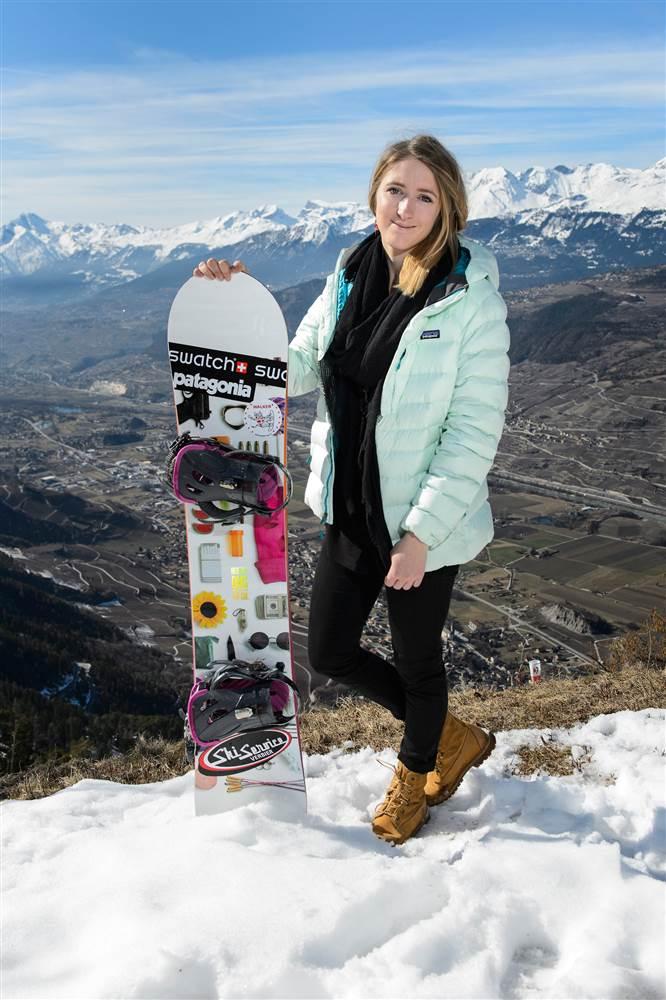 Estelle Balet snowboarding avalanche 1