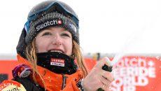 Estelle Balet snowboarding avalanche