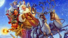 Santa bringing gifts to costa rica