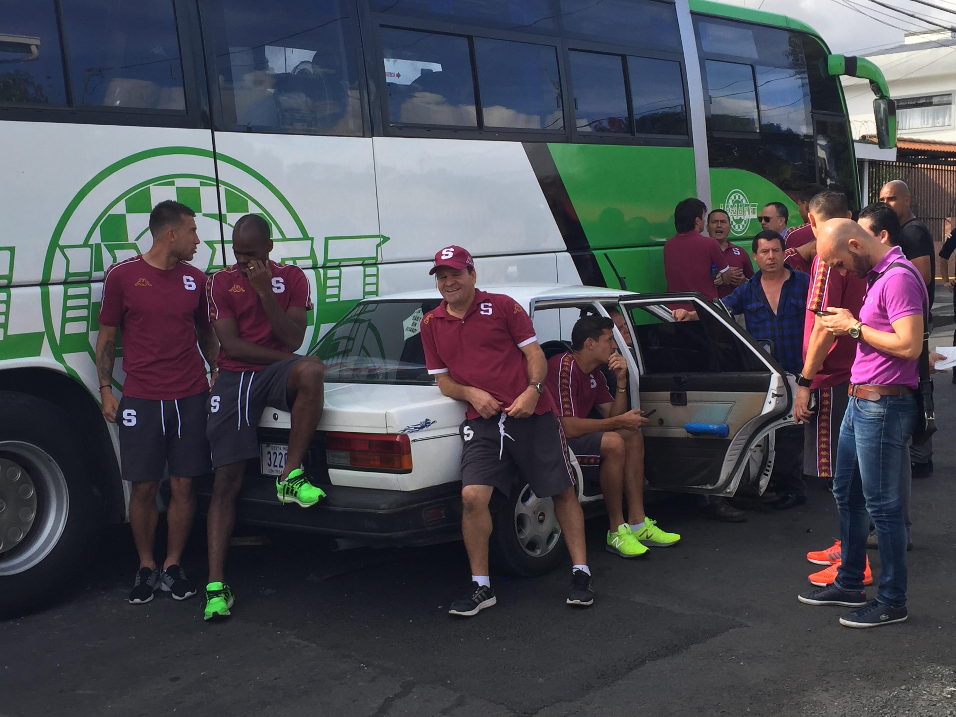 Saprissa-Bus Accident costa rica soccer