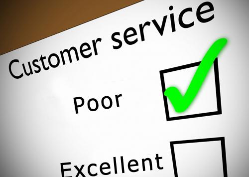 bad customer service