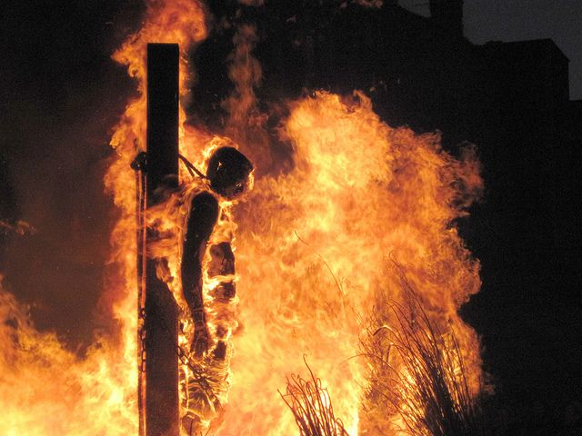 christians burned at the stake