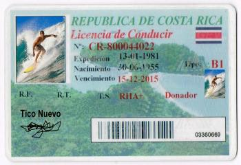 fake drivers license costa rica