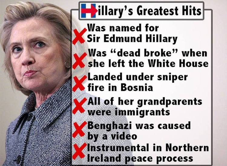 hillary clinton lies email server