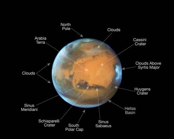 photos of mars hubble telescope 1