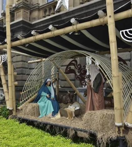teatro nacional nativity scene